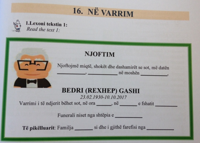 Obituaryshqip lesson