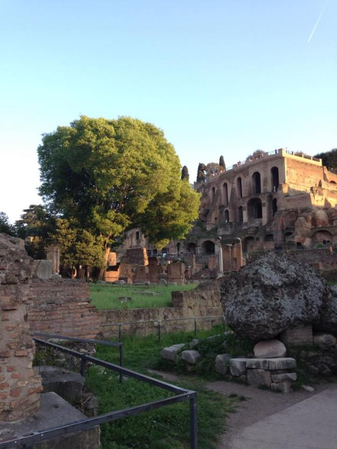 inside roman forum
