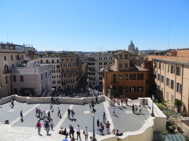 Looking down Spanish Steps Rome