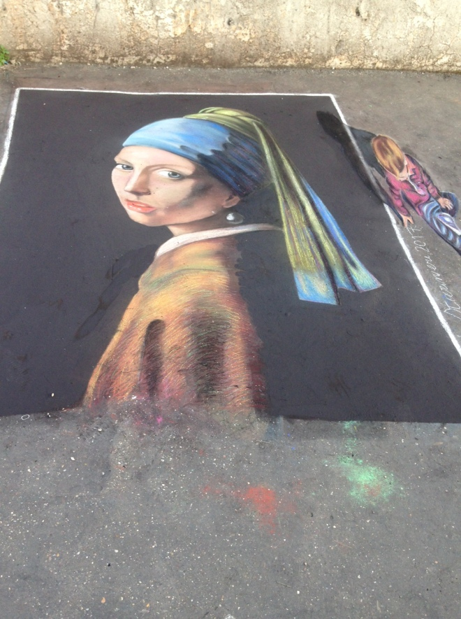 Girl with the Pearl earring street art Rome