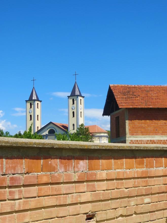 Kosovo village Catholic church