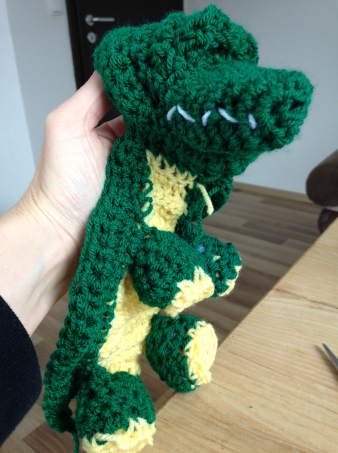 crocheted crocodile