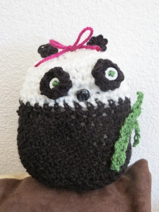 crocheted panda bear toy 1