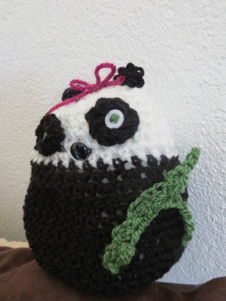 crocheted panda bear toy 2