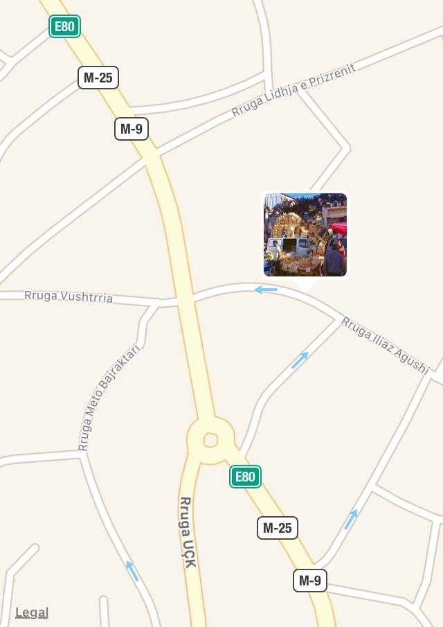 pristina kosovo bazaar map.PNG