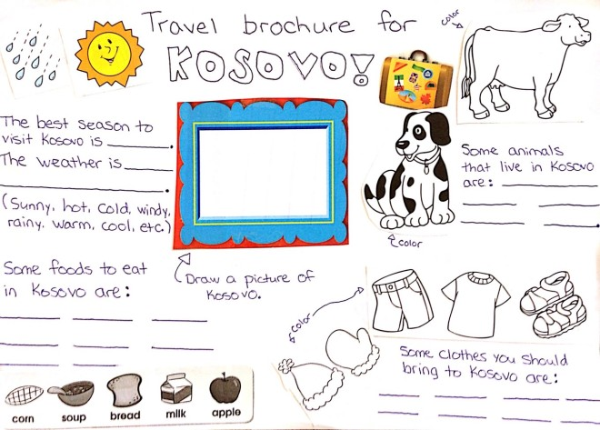 travel brochure classroom worksheet