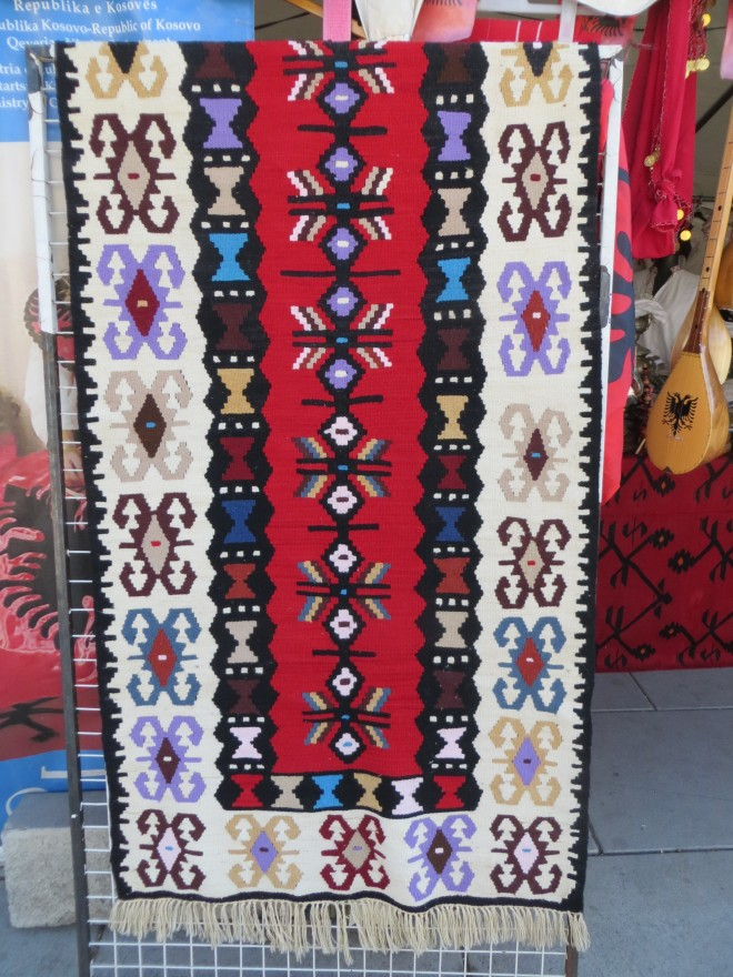 Albanian handmade wool rug