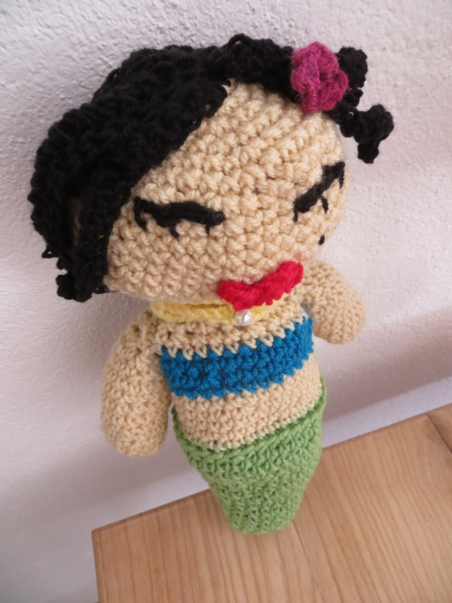crocheted mermaid
