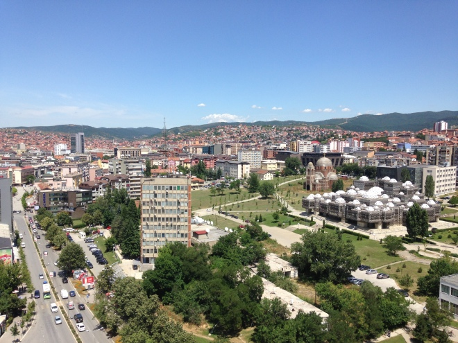 downtown pristina national library