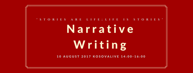 narrative writing header