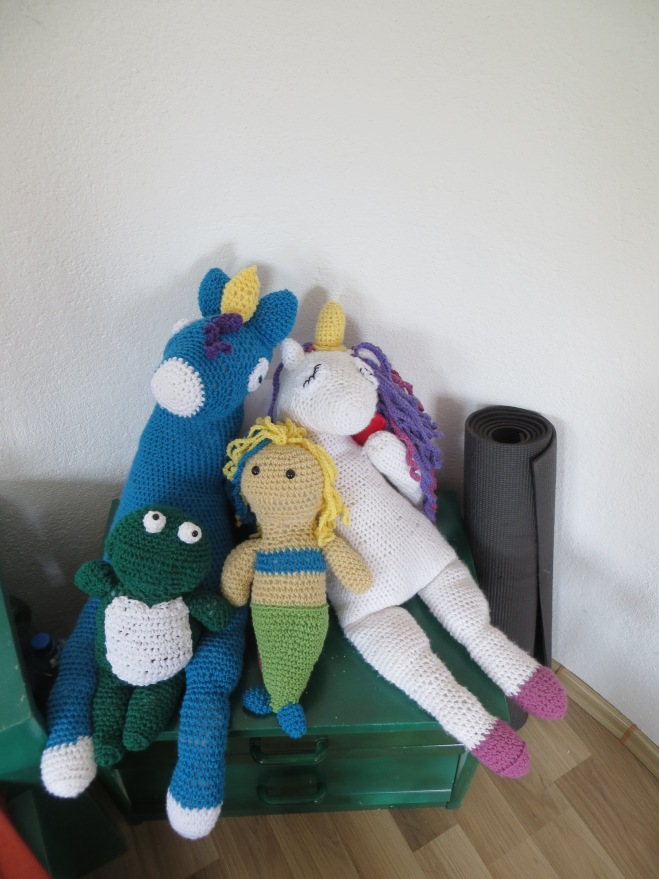 displaying crochet projects