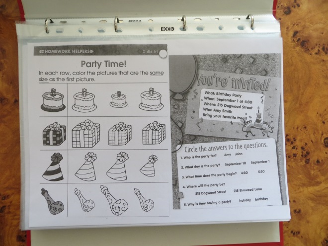 party worksheet