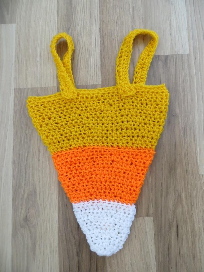 candy corn crochet trick or treat bag
