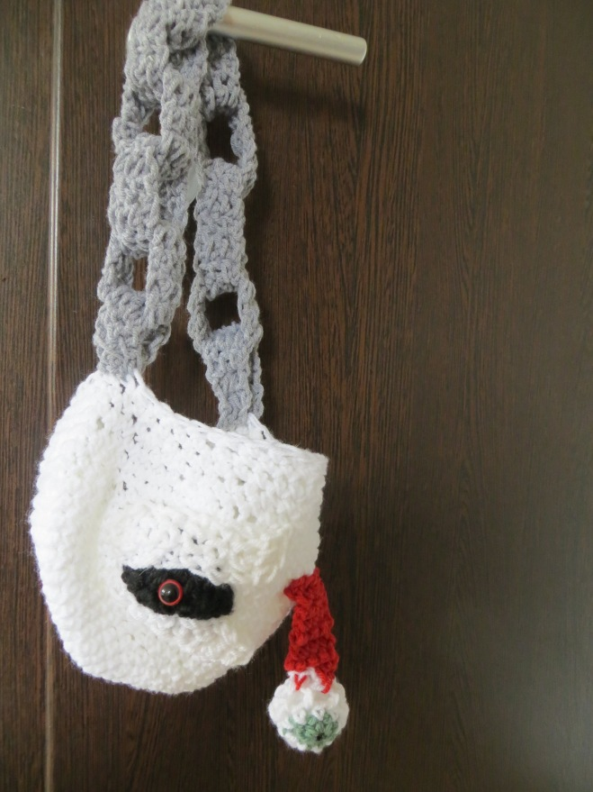 crochet trick or treat bag monster 2