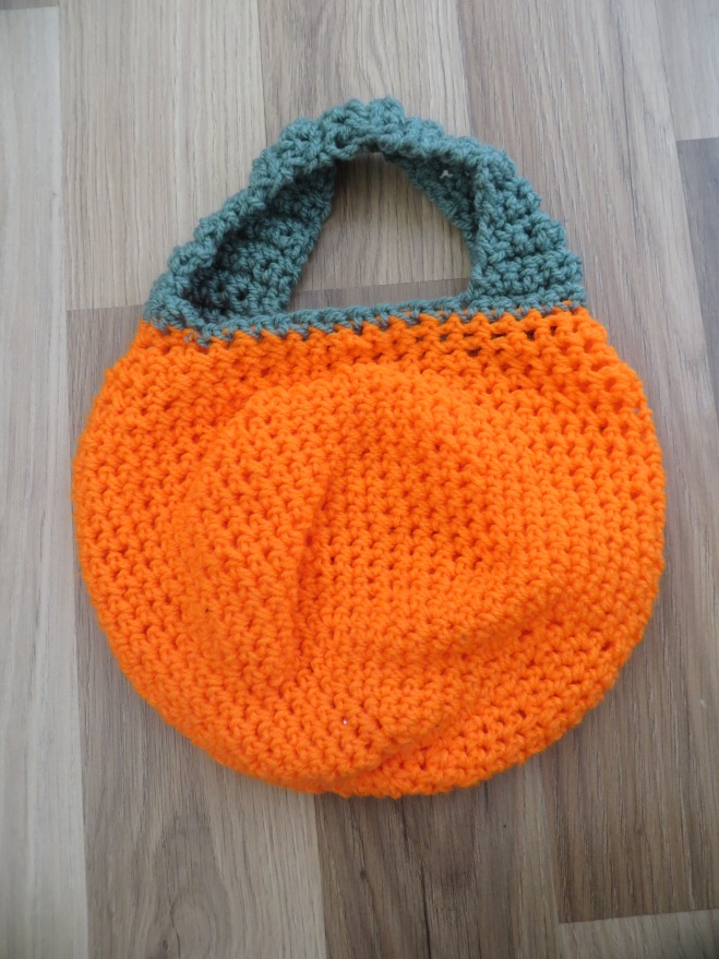 pumpkin crochet trick or treat bag