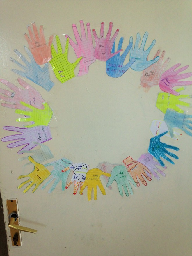 Friendship circle of hands classroom activity